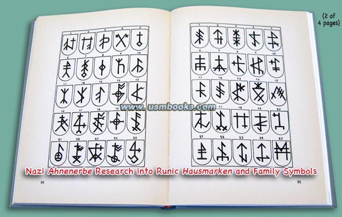 Nazi Ahnenerbe Research Book Runic Symbols