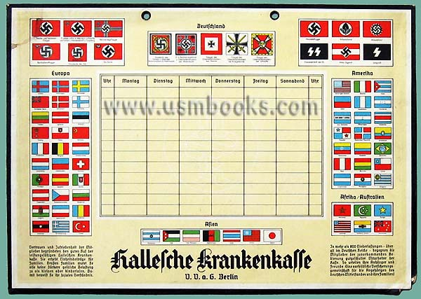 Third Reich Door Sign Featuring Nazi Flags
