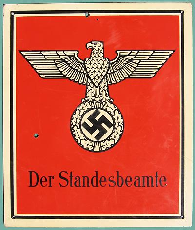 Nazi Eagle Swastika Signs Standesbeamte