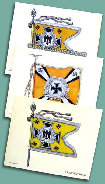 Original Third Reich Prints (12) Nazi Standards